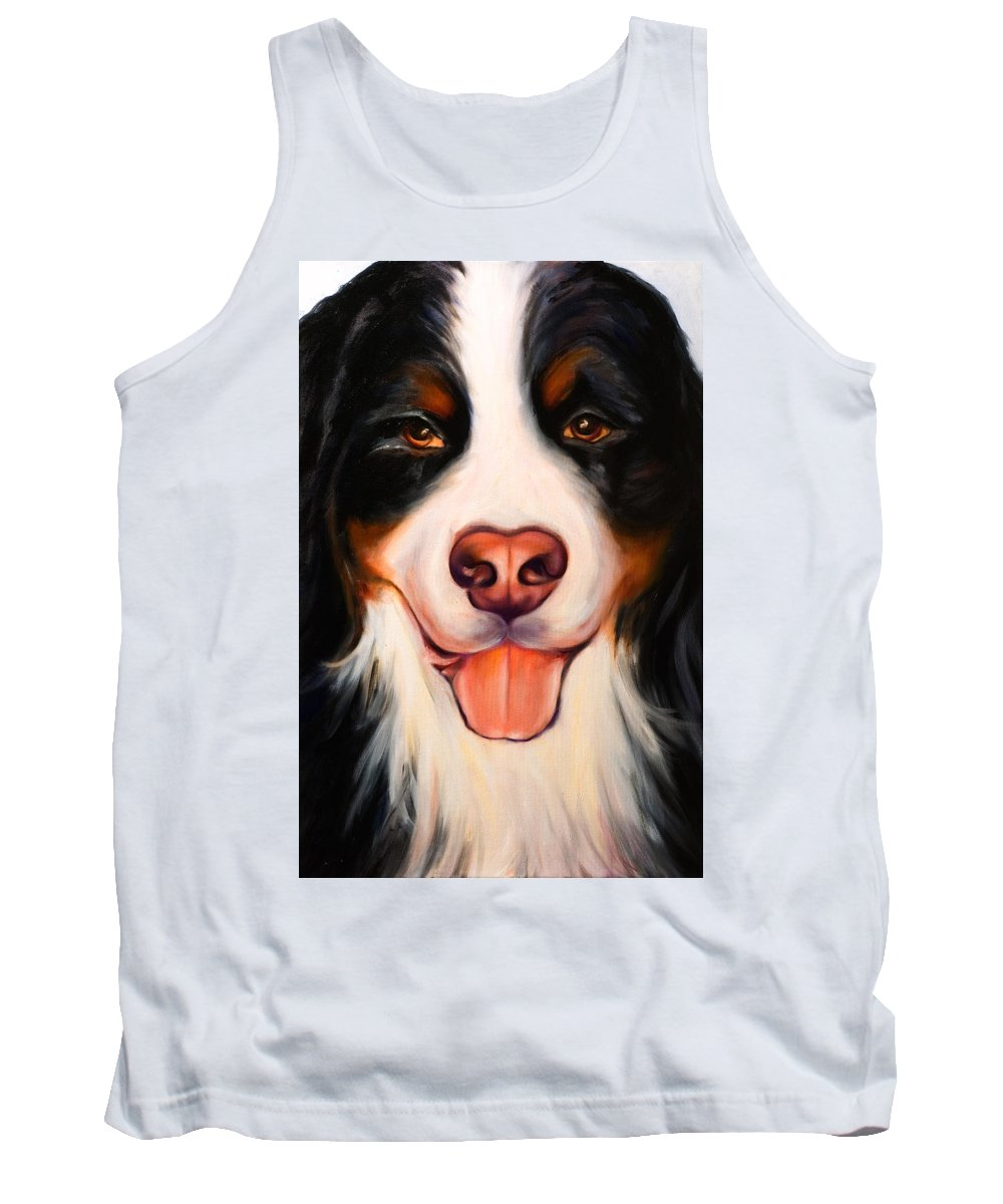 Dog Tank Top featuring the painting Big Willie by Shannon Grissom