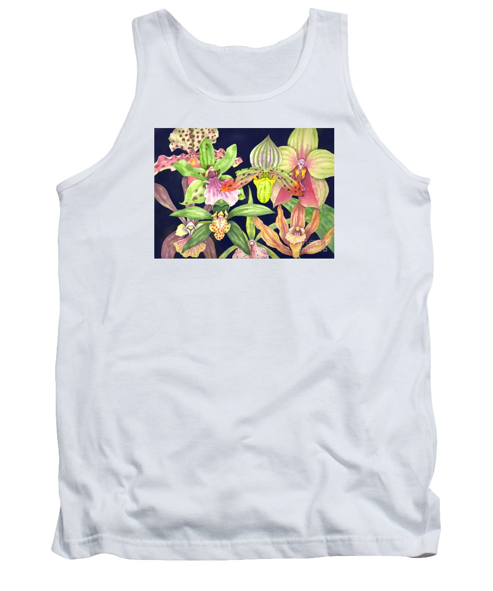 Orchids Tank Top featuring the painting Orchids by Lucy Arnold
