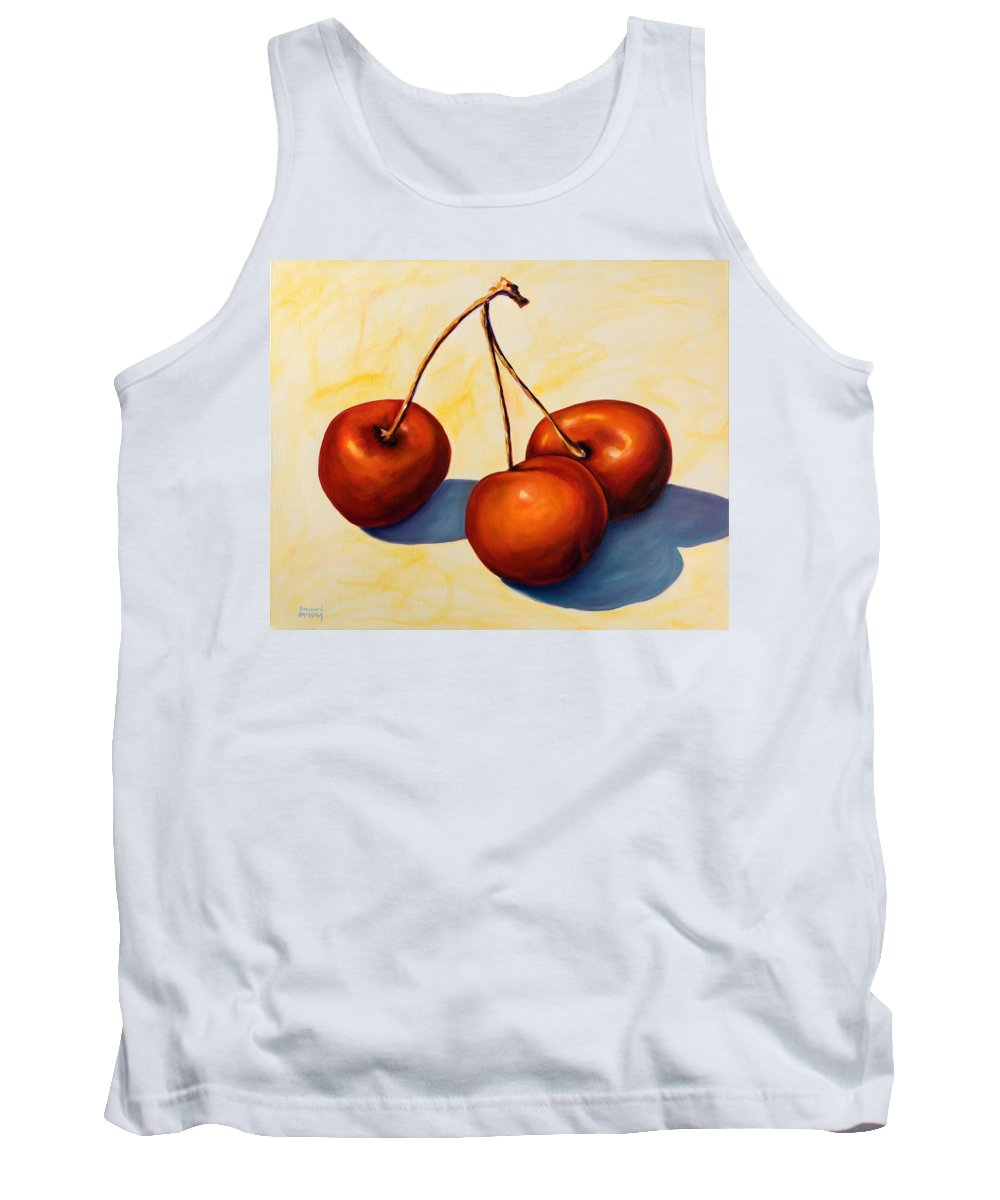 Cherries Tank Top featuring the painting Trilogy by Shannon Grissom