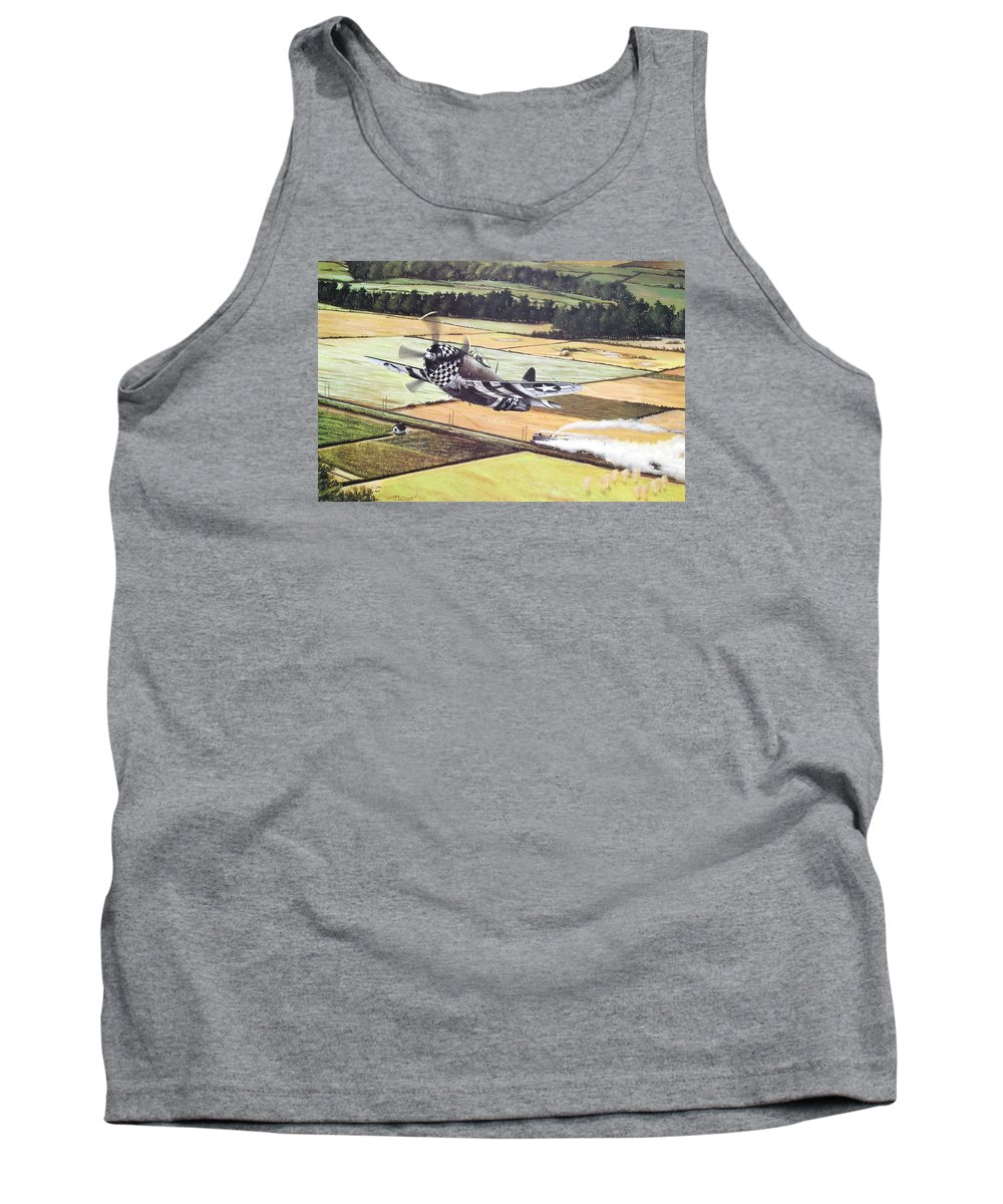 Military Tank Top featuring the painting Target Of Opportunity by Marc Stewart