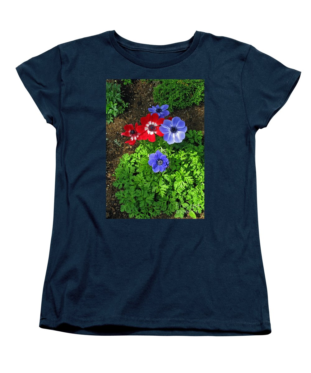 Red and blue anemones womens t shirt for sale by ausra for Red and blue t shirt