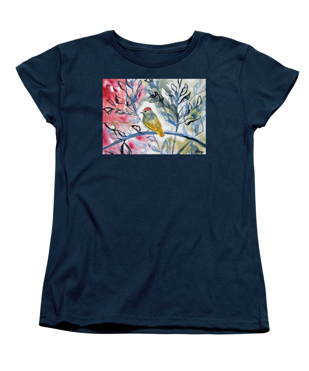 watercolor green tailed towhee impression womens t shirt for sale by cascade colors. Black Bedroom Furniture Sets. Home Design Ideas