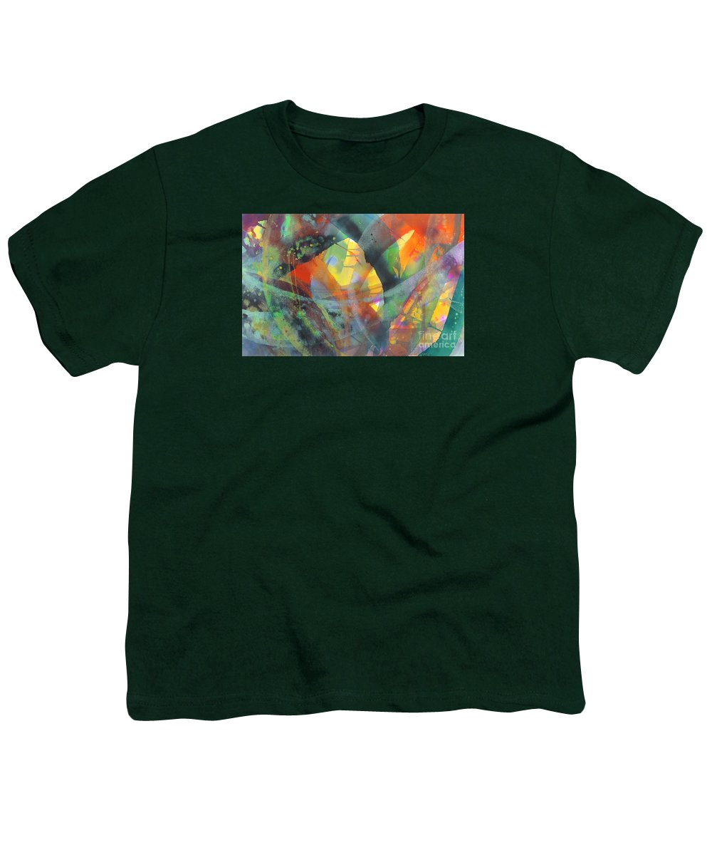 Abstract Youth T-Shirt featuring the painting Connections by Lucy Arnold