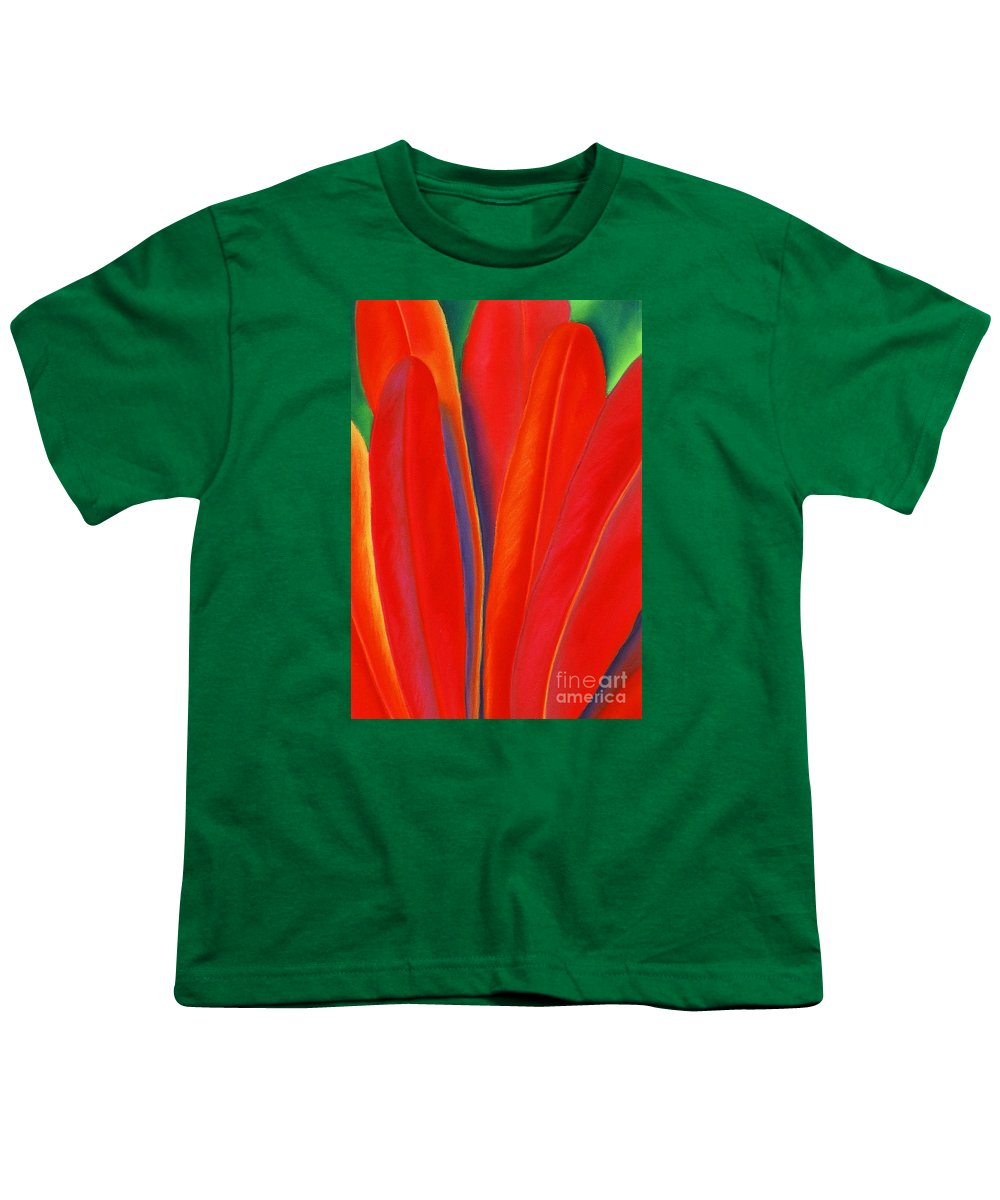 Red Youth T-Shirt featuring the painting Red Petals by Lucy Arnold