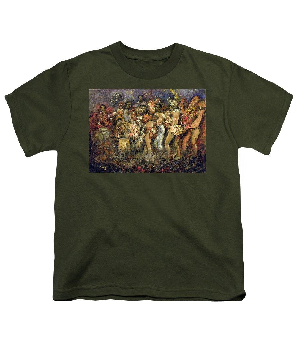 Tropicana Youth T-Shirt featuring the painting Tropicana Havana by Tomas Castano