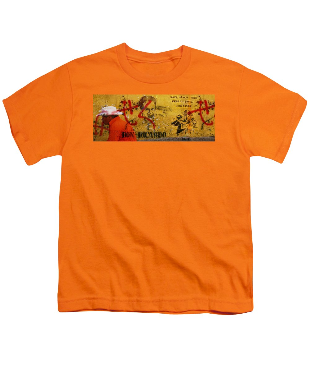 Grafitti Youth T-Shirt featuring the photograph Don-ricardo by Skip Hunt