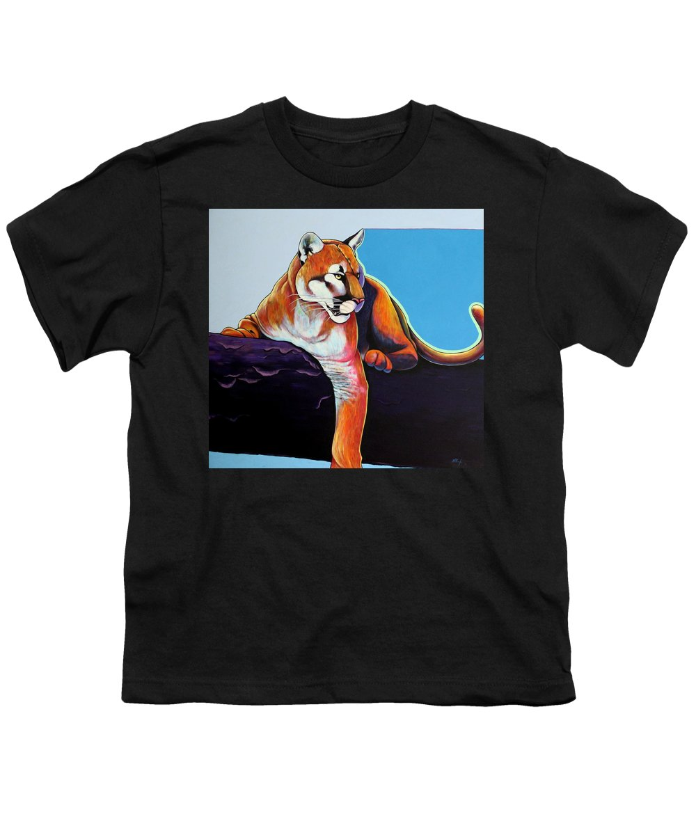 Wildlife Youth T-Shirt featuring the painting The Toll Collector by Joe Triano