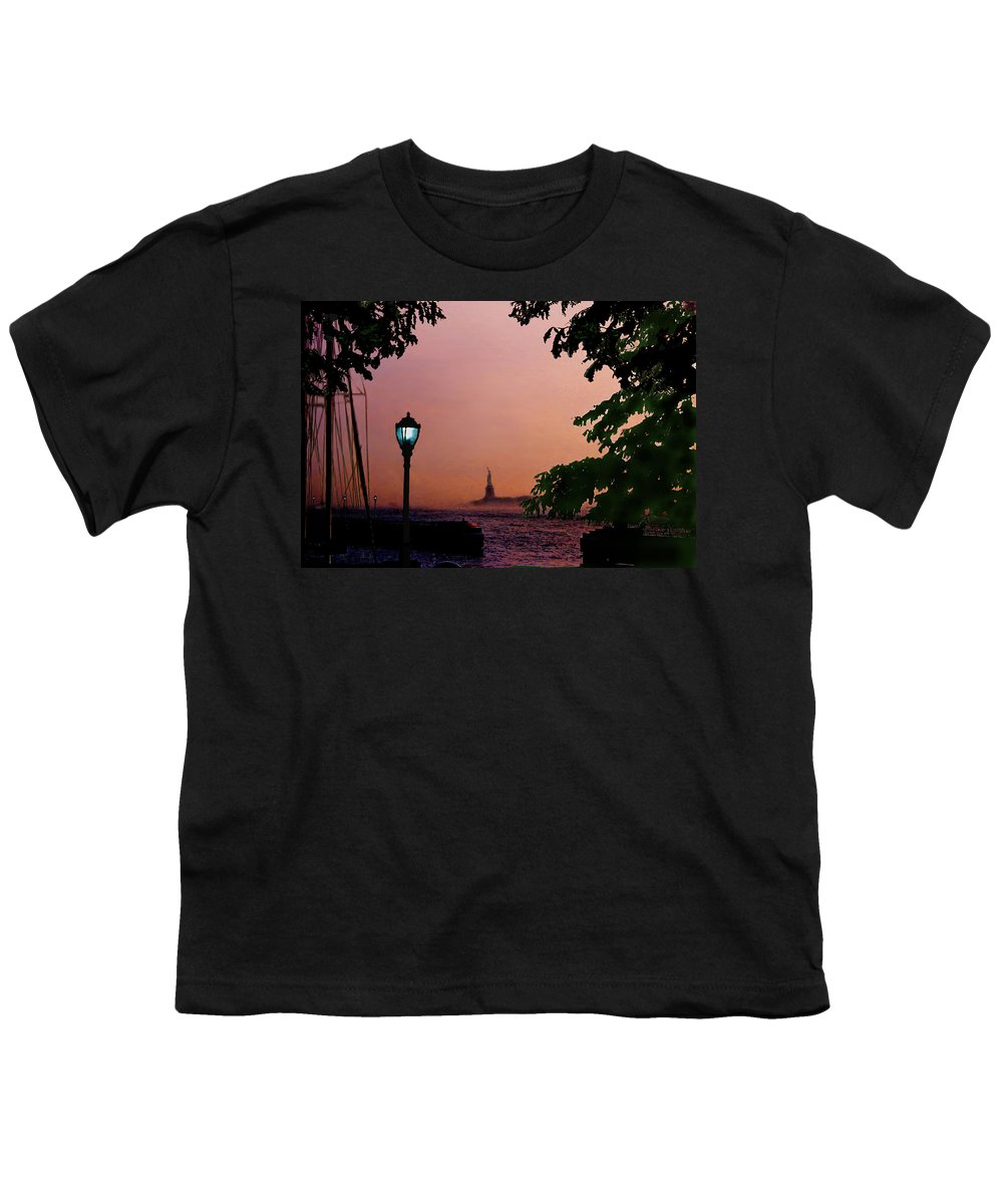 Seascape Youth T-Shirt featuring the digital art Liberty Fading Seascape by Steve Karol