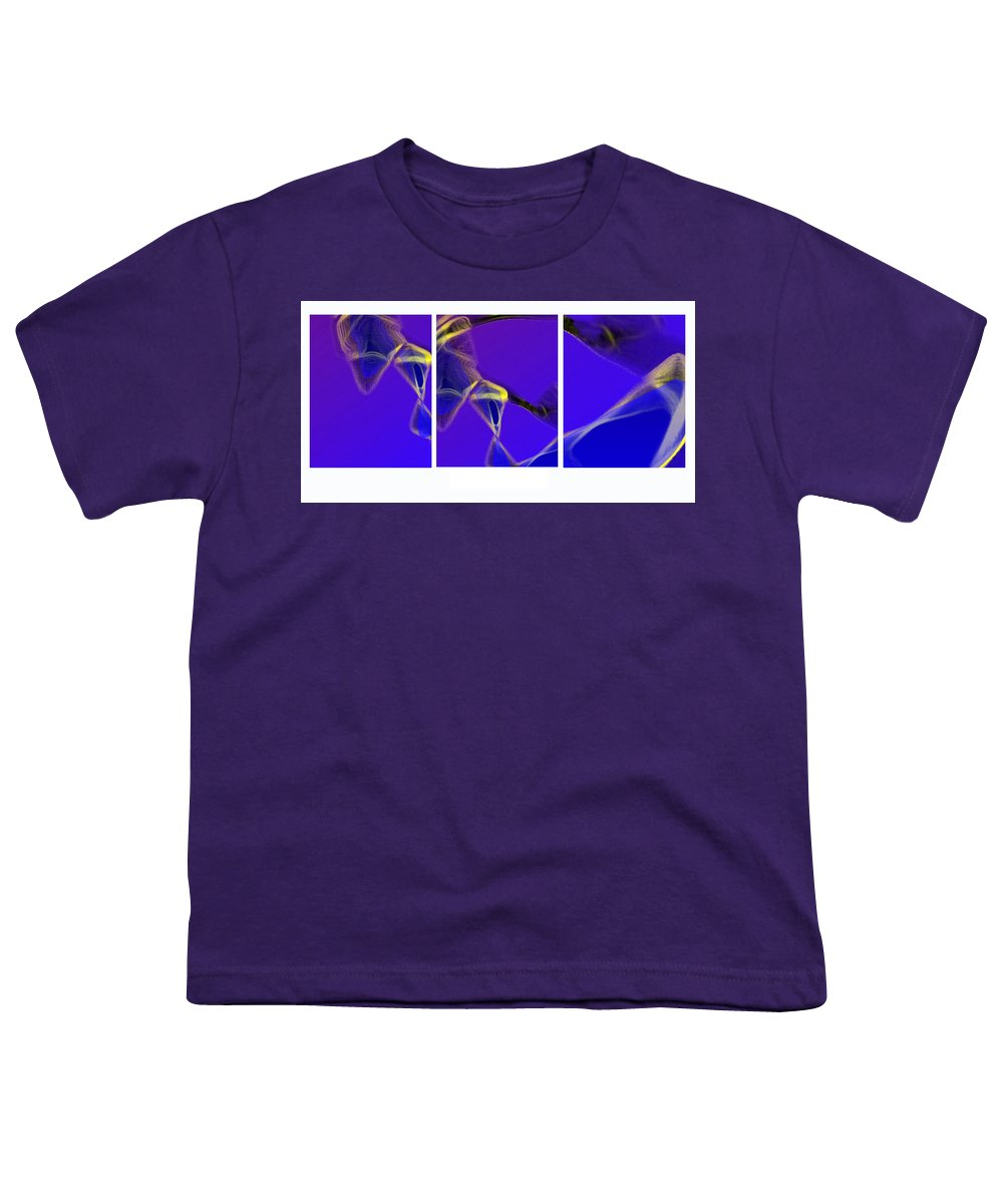 Abstract Youth T-Shirt featuring the digital art Movement In Blue by Steve Karol