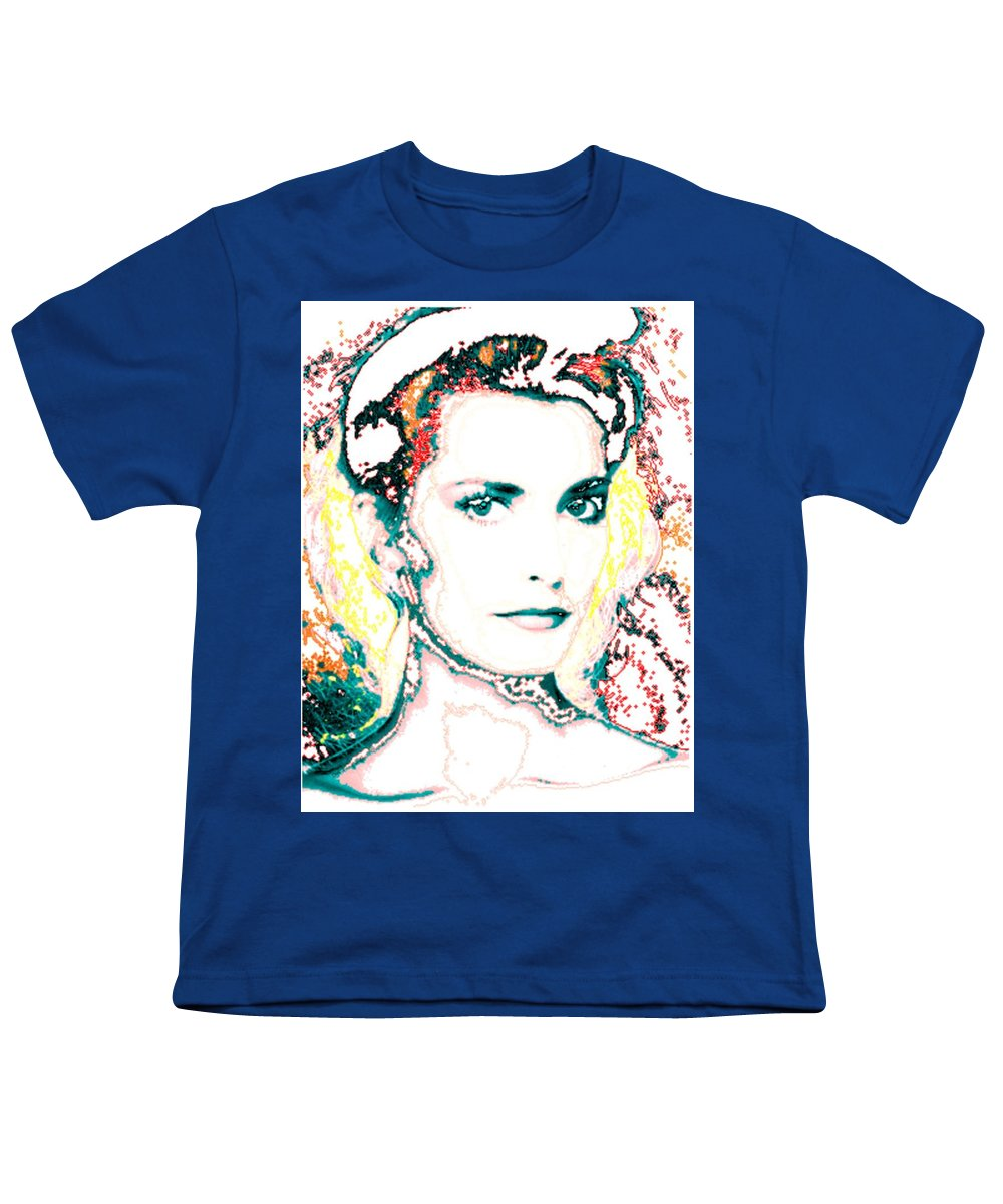 Digital Youth T-Shirt featuring the digital art Digital Self Portrait by Kathleen Sepulveda