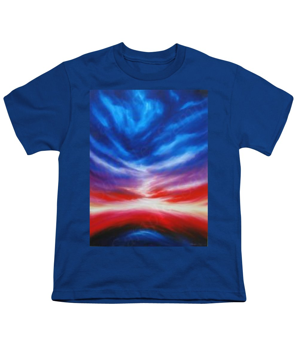 Tempest Youth T-Shirt featuring the painting Genesis IIi by James Christopher Hill