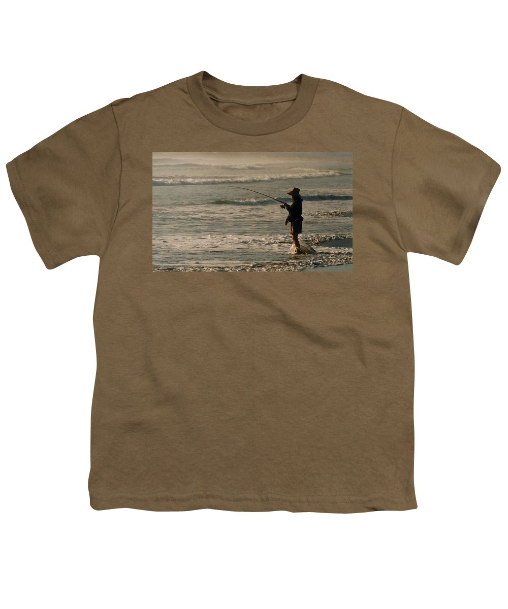 Fisherman Youth T-Shirt featuring the photograph Fisherman by Steve Karol