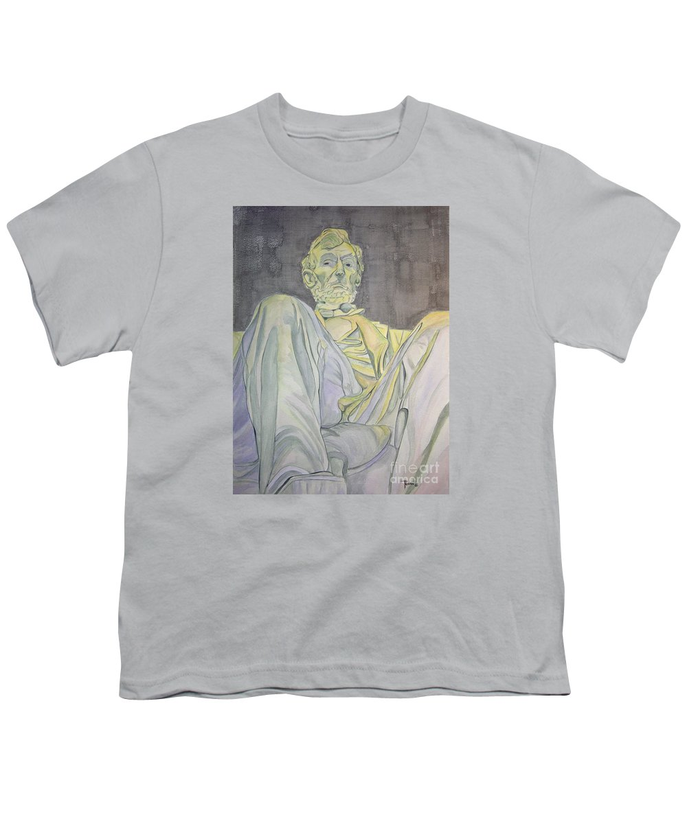Presidents Youth T-Shirt featuring the painting Lincoln by Regan J Smith
