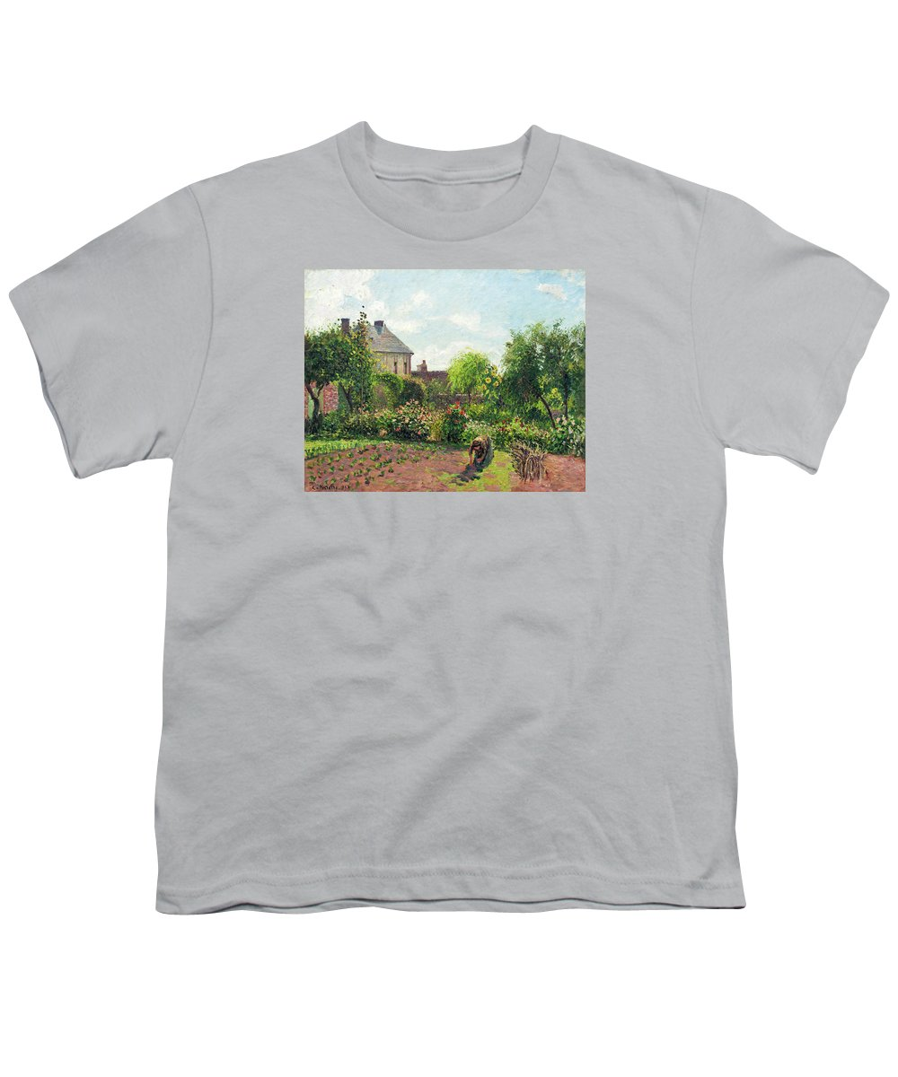 The Artist 39 S Garden At Eragny Youth T Shirt For Sale By Camille Pissarro
