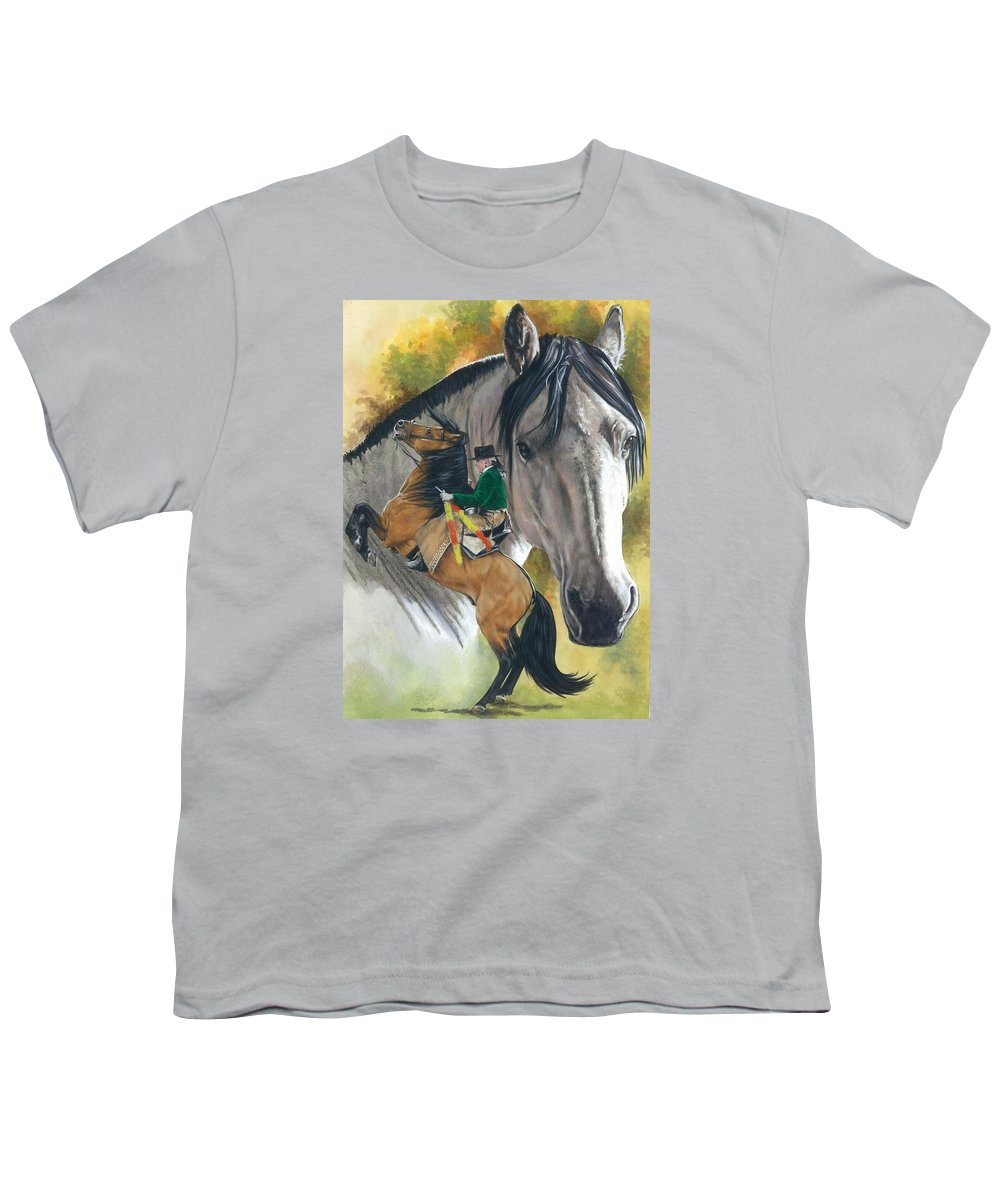 Horses Youth T-Shirt featuring the painting Lusitano by Barbara Keith