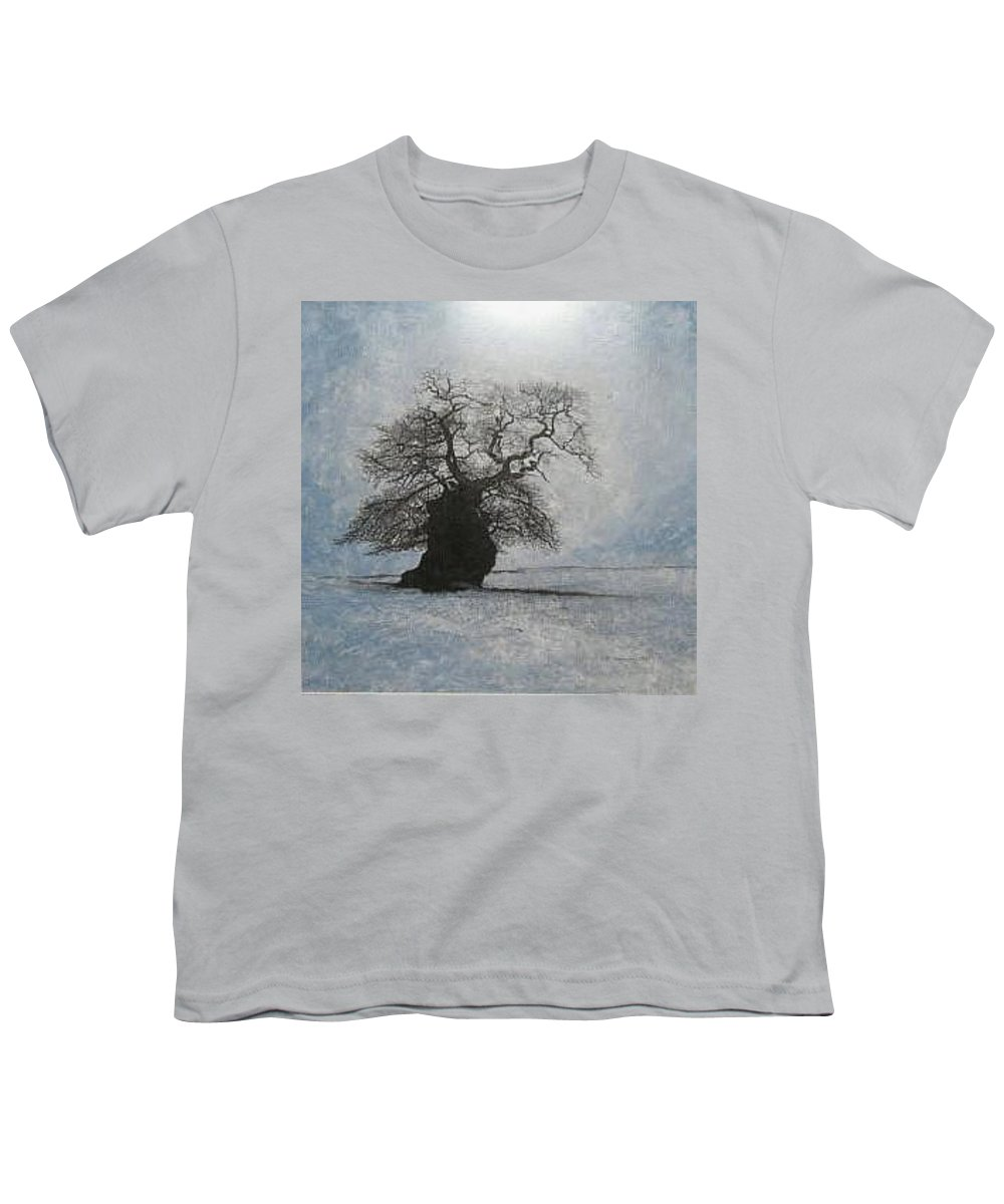 Silhouette Youth T-Shirt featuring the painting Stilton Silhouette by Leah Tomaino