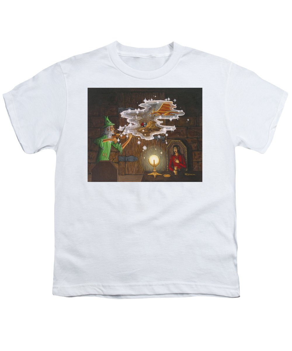 Fantasy Youth T-Shirt featuring the painting Magic Violin by Roz Eve