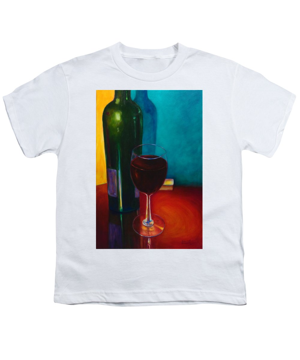Wine Bottle Youth T-Shirt featuring the painting Shannon's Red by Shannon Grissom