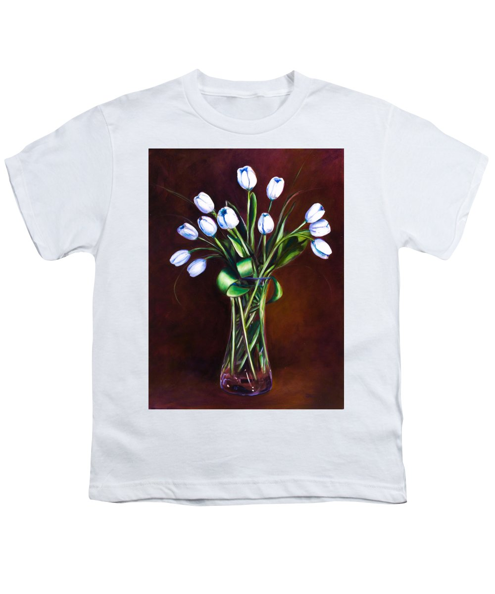 Shannon Grissom Youth T-Shirt featuring the painting Simply Tulips by Shannon Grissom