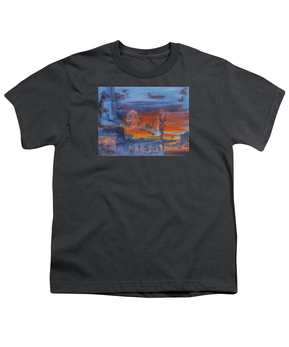 Abstract Youth T-Shirt featuring the painting A Mystery Of Gods by Steve Karol