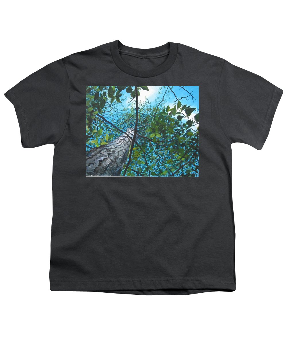 Landscape Youth T-Shirt featuring the painting Skyward by William Brody