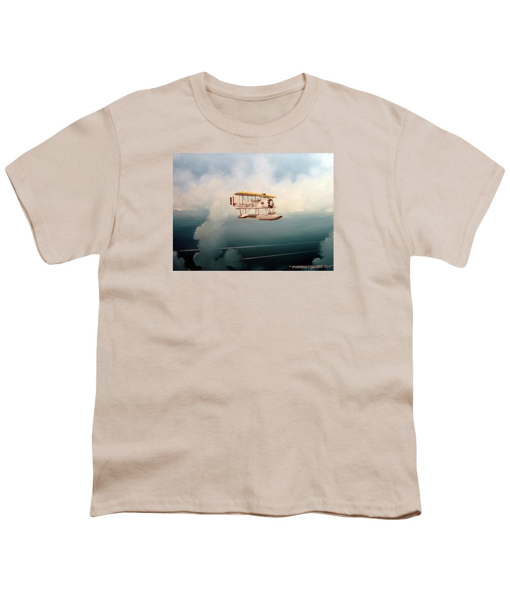 Military Youth T-Shirt featuring the painting Eyes Of The Fleet by Marc Stewart
