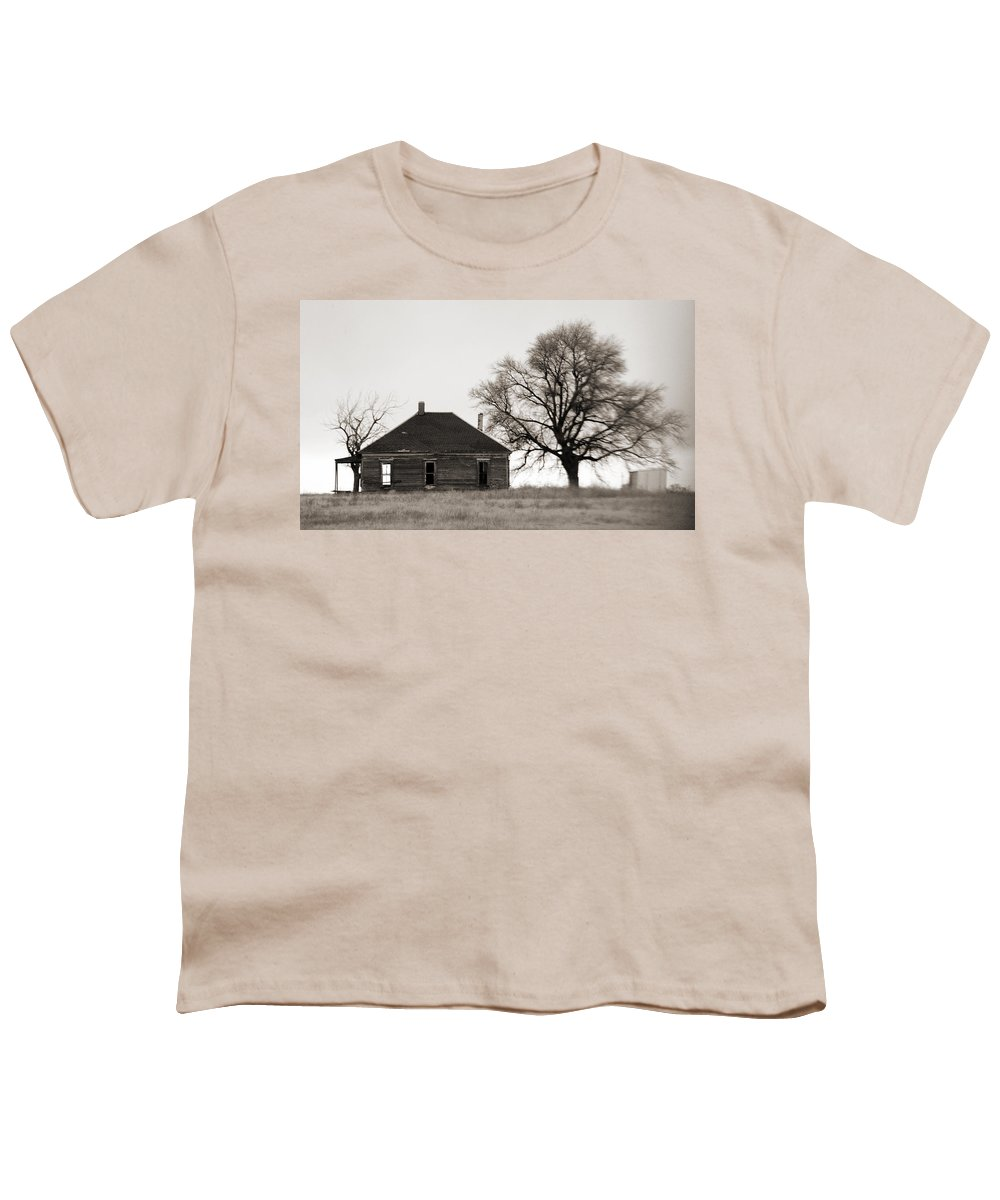 Texas Youth T-Shirt featuring the photograph West Texas Winter by Marilyn Hunt