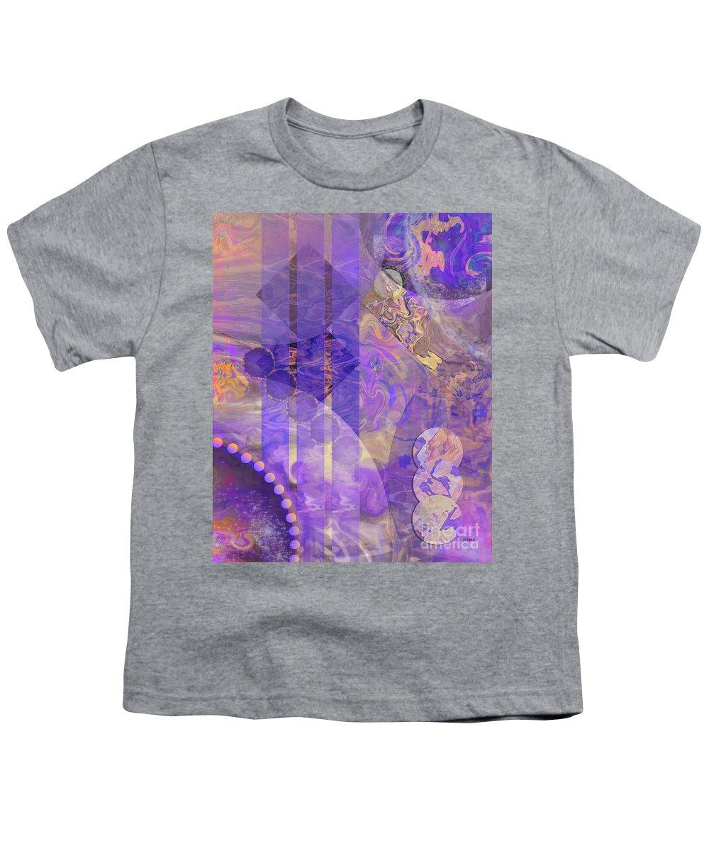 Lunar Impressions 2 Youth T-Shirt featuring the digital art Lunar Impressions 2 by John Robert Beck