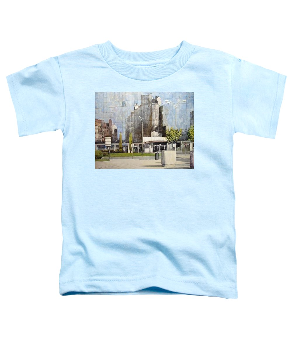 Leon Toddler T-Shirt featuring the painting Leon by Tomas Castano