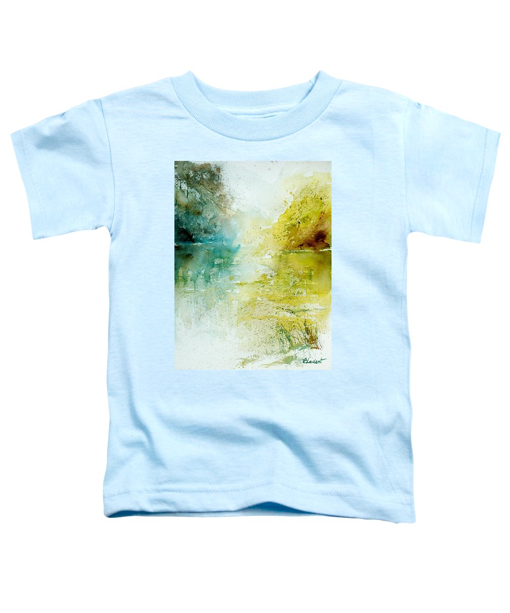 Pond Nature Landscape Toddler T-Shirt featuring the painting Watercolor 24465 by Pol Ledent