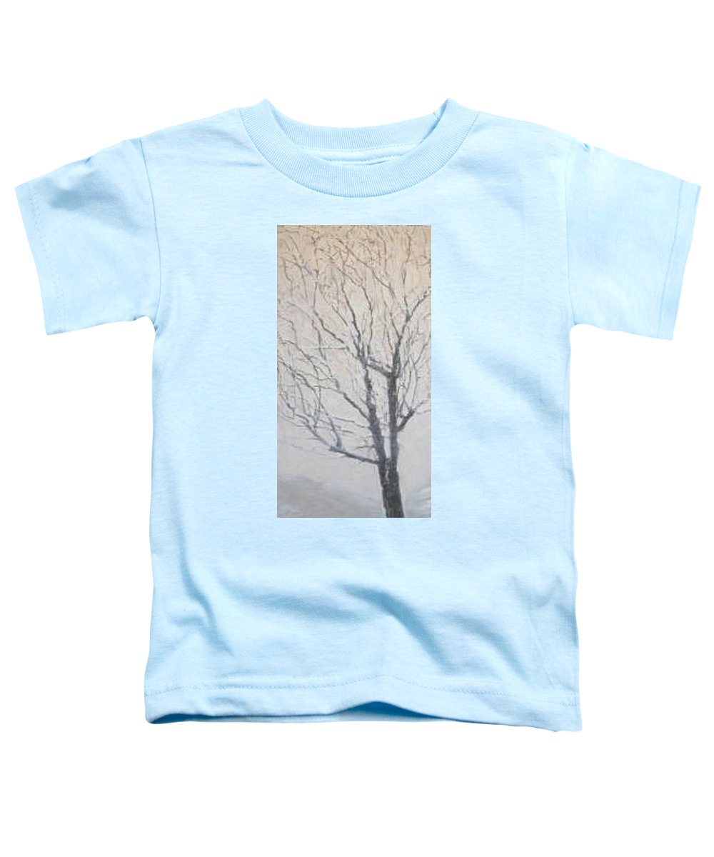 Tree Toddler T-Shirt featuring the painting Winter by Leah Tomaino