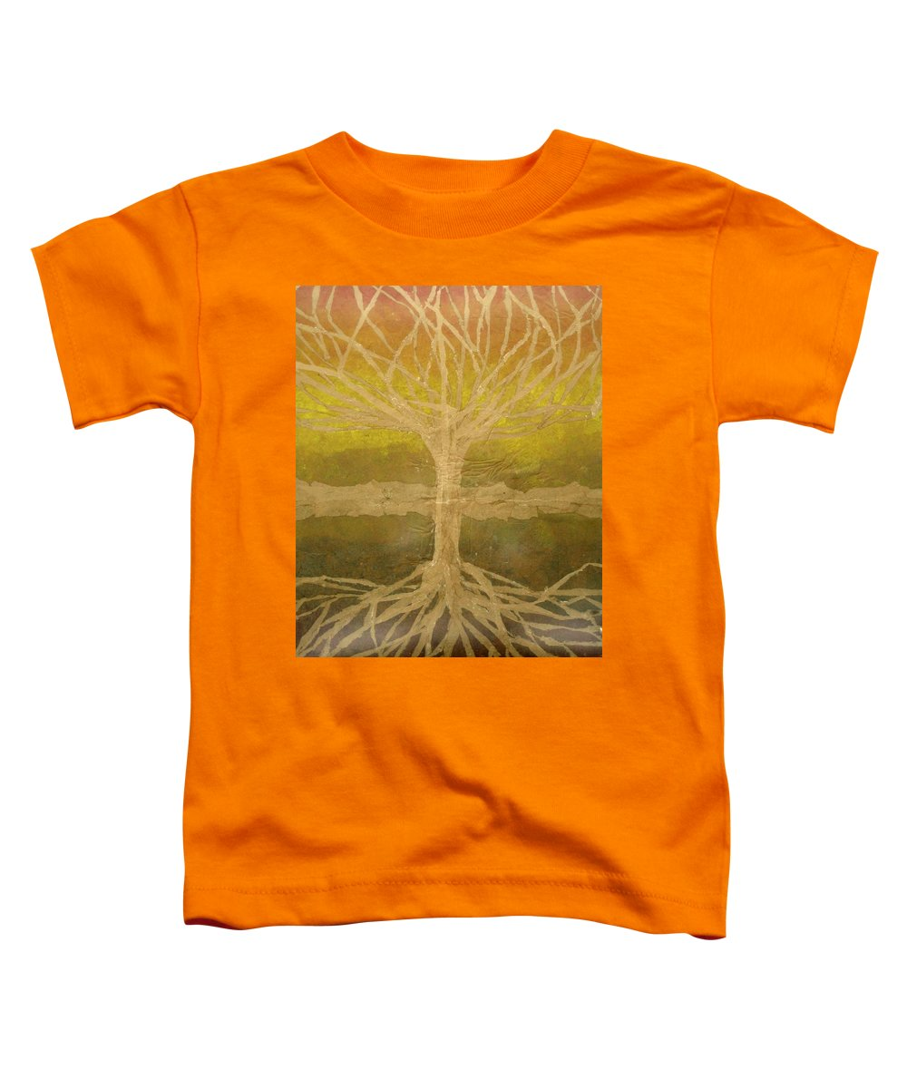 Abstract Toddler T-Shirt featuring the painting Meditation by Leah Tomaino