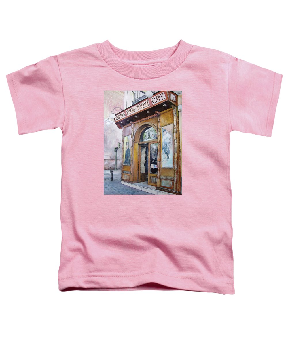 Tirso Toddler T-Shirt featuring the painting Tirso De Molina Old Tavern by Tomas Castano