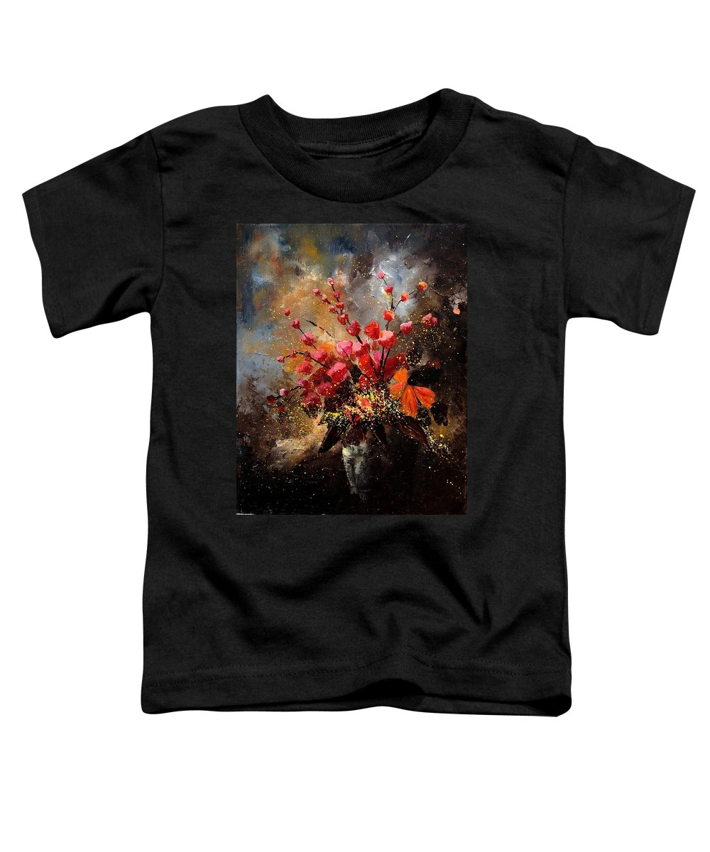 Poppies Toddler T-Shirt featuring the painting Bunch 1207 by Pol Ledent