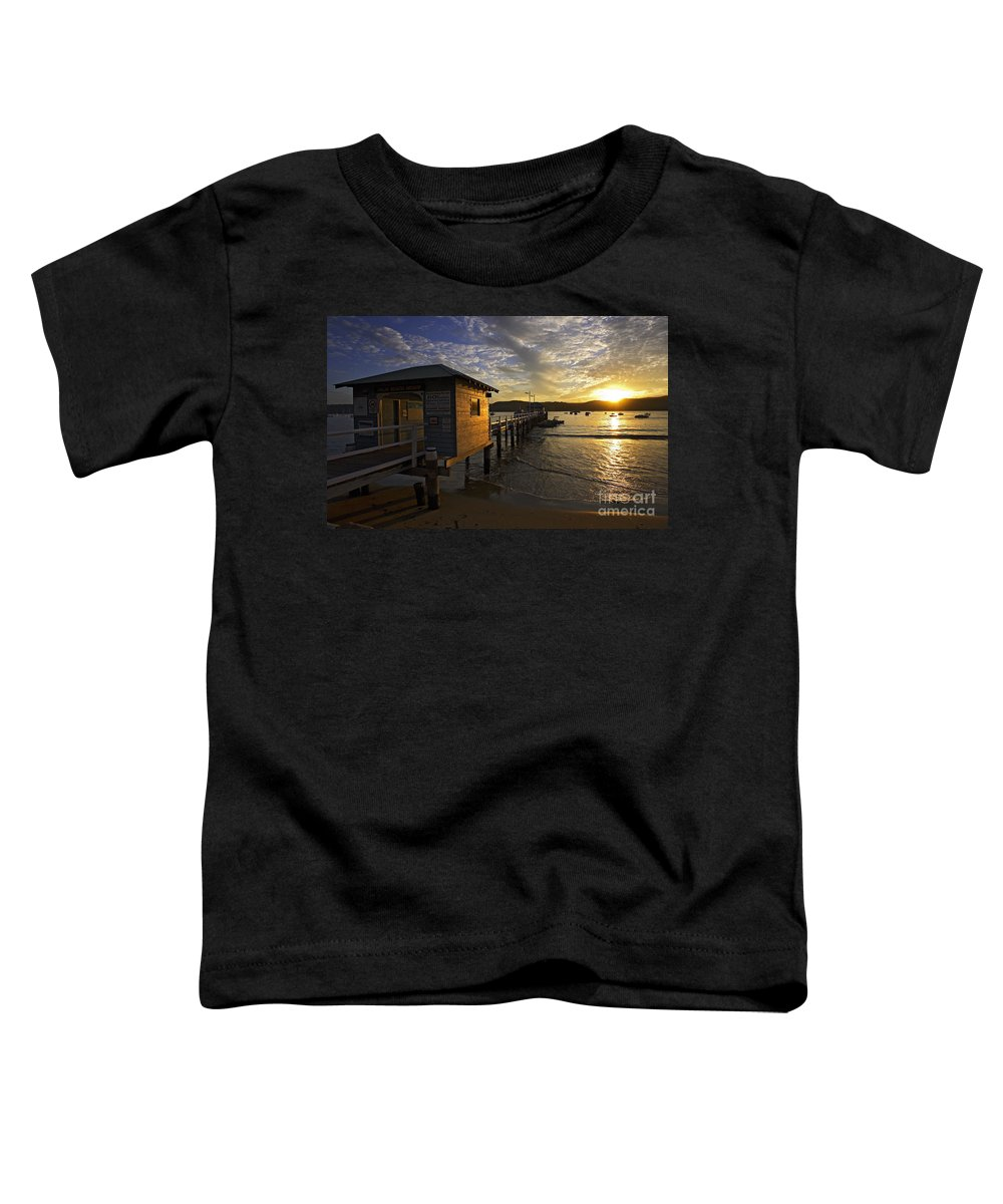 Palm Beach Sydney Australia Sunset Water Pittwater Toddler T-Shirt featuring the photograph Palm Beach Sunset by Avalon Fine Art Photography