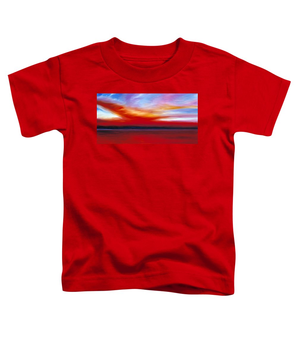 Clouds Toddler T-Shirt featuring the painting October Sky by James Christopher Hill