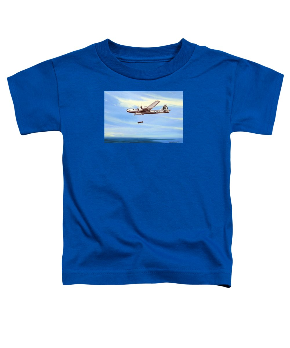 Military Toddler T-Shirt featuring the painting Enola Gay by Marc Stewart
