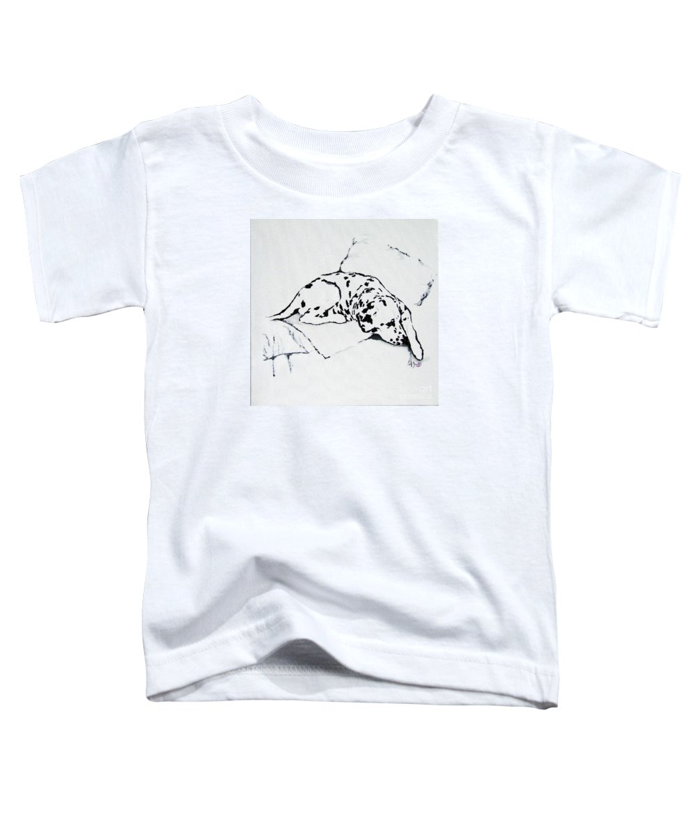 Dogs Toddler T-Shirt featuring the painting Lazy Day by Jacki McGovern