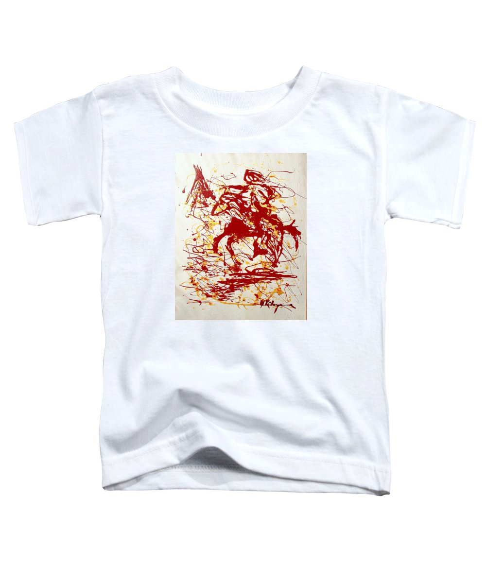 Indian Toddler T-Shirt featuring the painting History In Blood by J R Seymour