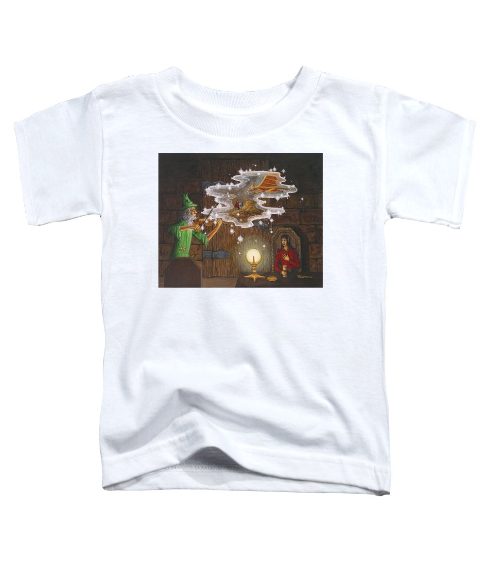 Fantasy Toddler T-Shirt featuring the painting Magic Violin by Roz Eve