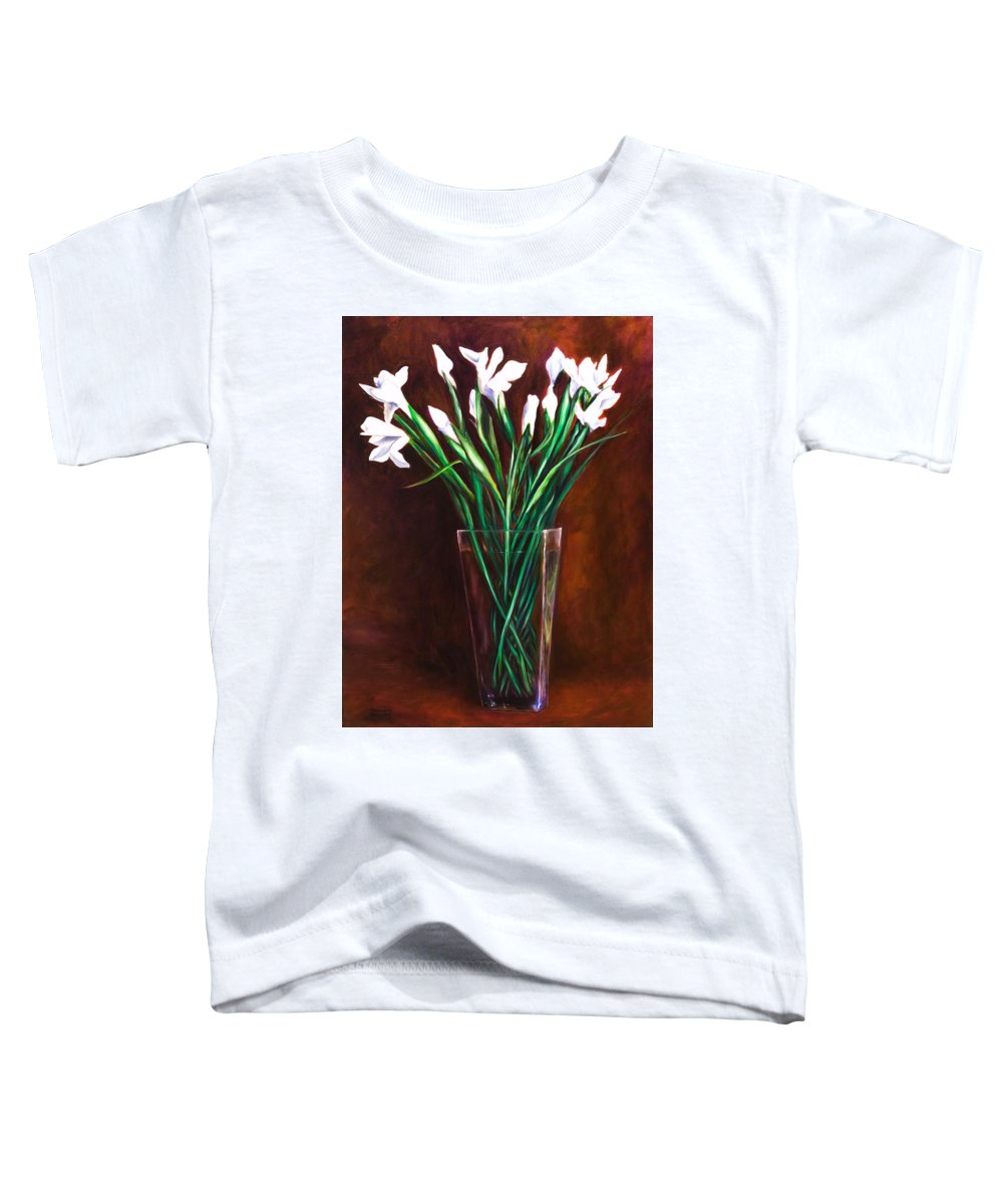Iris Toddler T-Shirt featuring the painting Simply Iris by Shannon Grissom