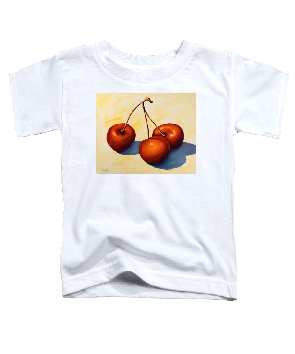Cherries Toddler T-Shirt featuring the painting Trilogy by Shannon Grissom