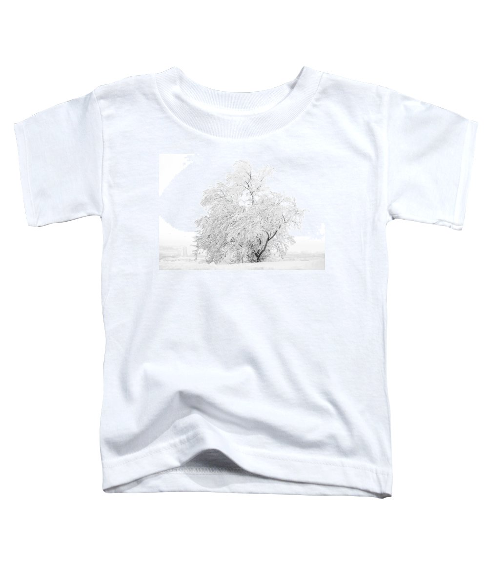 Snow Toddler T-Shirt featuring the photograph White On White by Marilyn Hunt