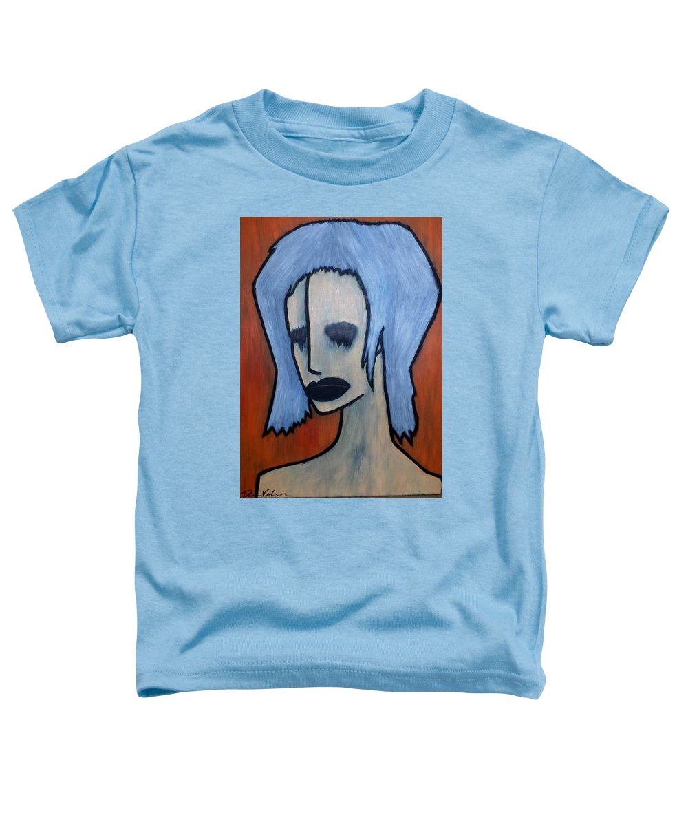 Potrait Toddler T-Shirt featuring the painting Halloween by Thomas Valentine
