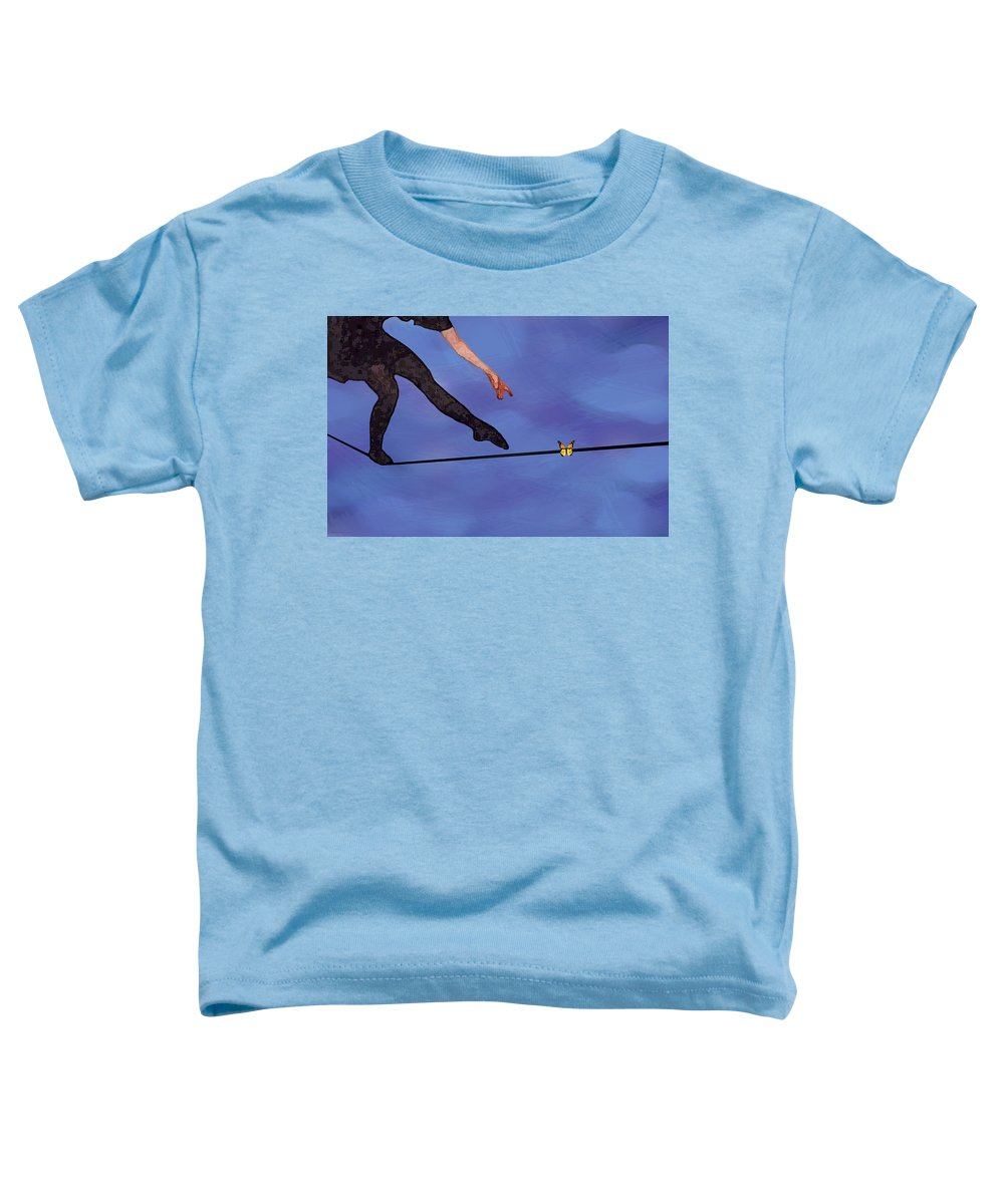 Surreal Toddler T-Shirt featuring the painting Catching Butterflies by Steve Karol