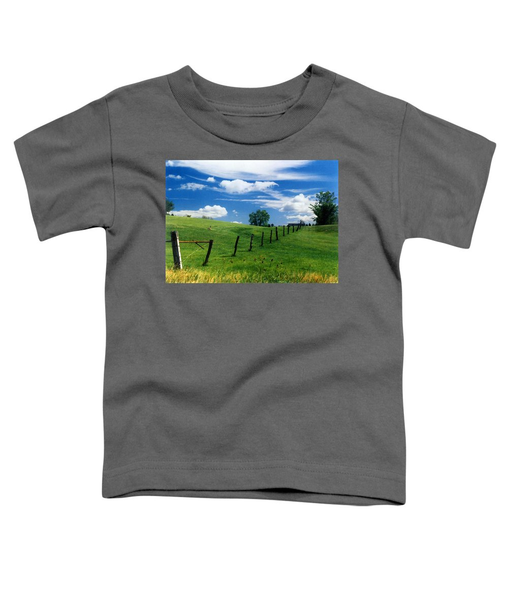 Summer Landscape Toddler T-Shirt featuring the photograph Summer Landscape by Steve Karol