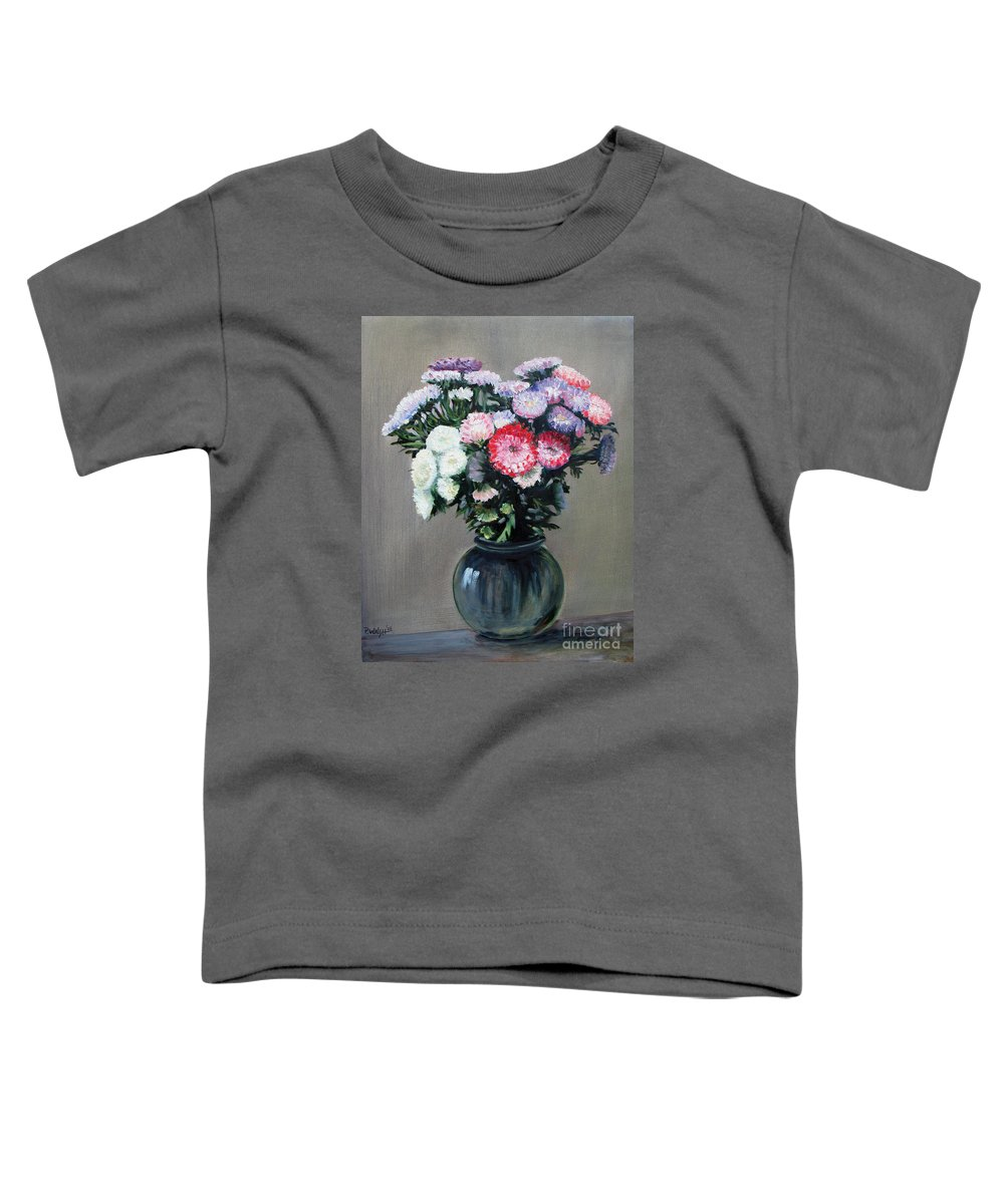 Flowers Toddler T-Shirt featuring the painting Asters by Paul Walsh