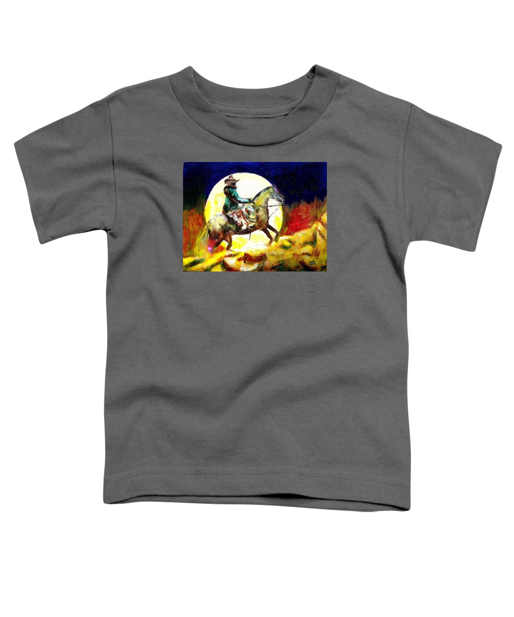 Canyon Moon Toddler T-Shirt featuring the painting Canyon Moon by Seth Weaver