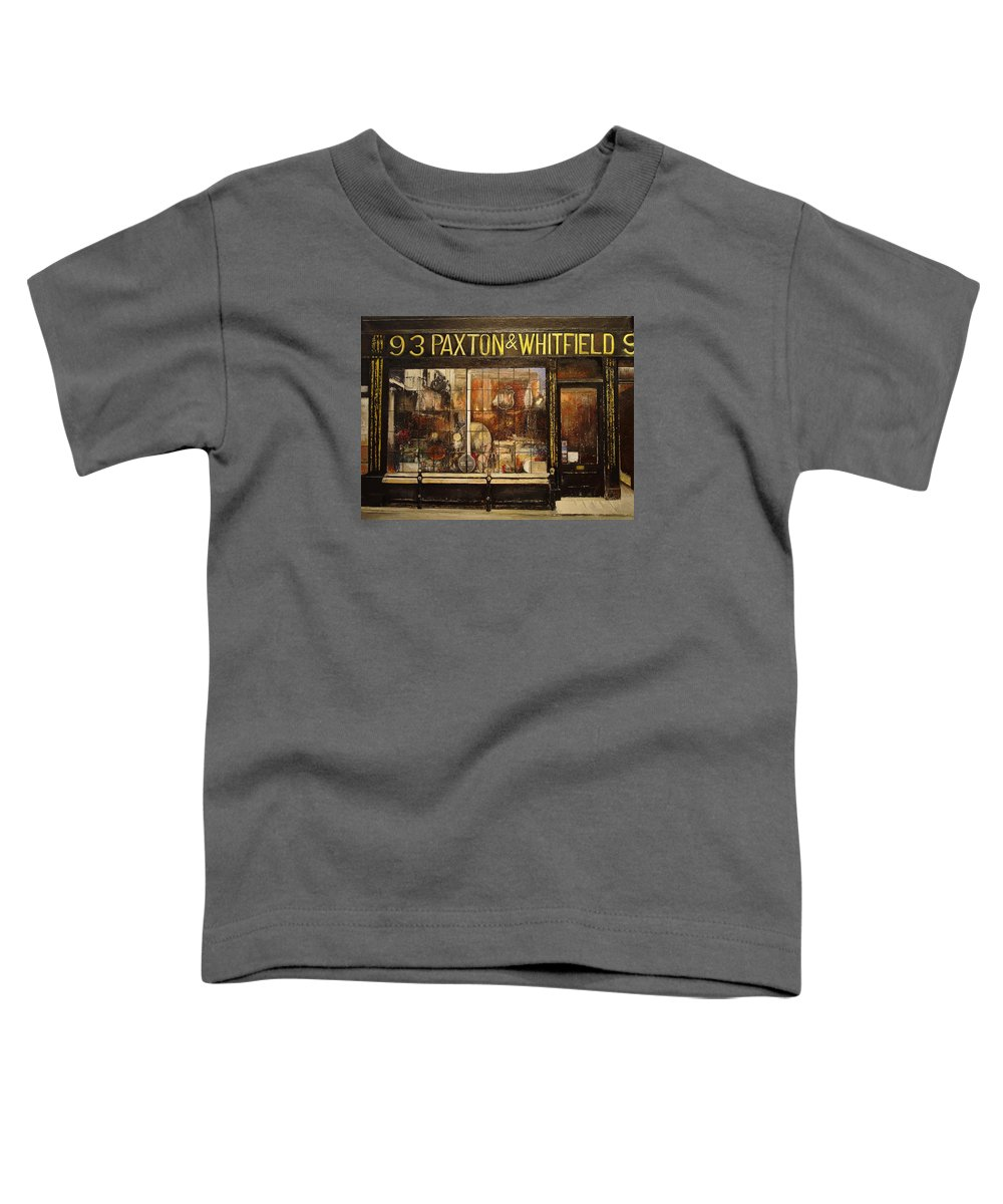 Paxton Toddler T-Shirt featuring the painting Paxton Whitfield .london by Tomas Castano
