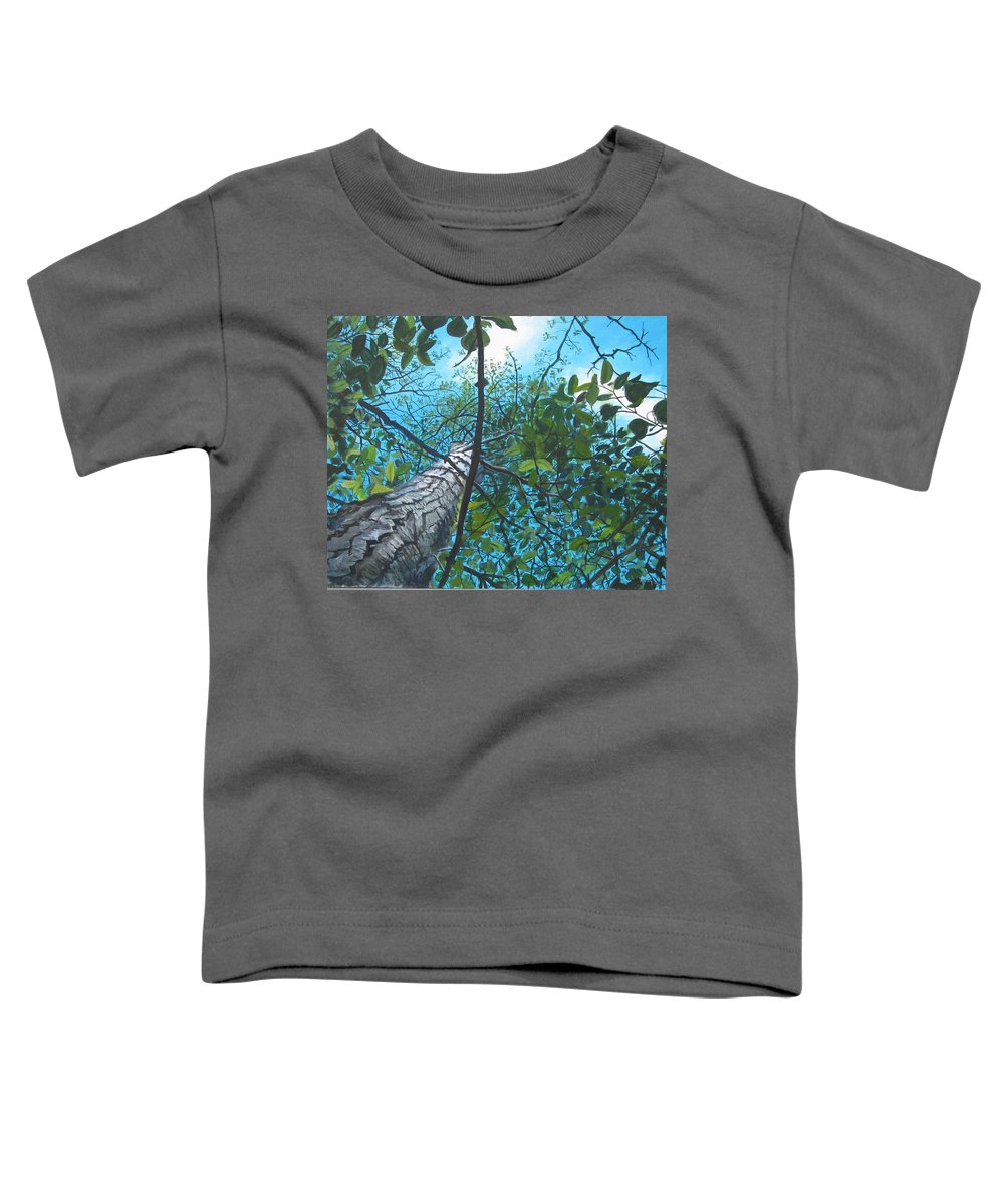 Landscape Toddler T-Shirt featuring the painting Skyward by William Brody